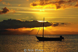 Sunset viewed from Abersoch Beach, North Wales by Nick Blake